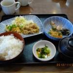 日替ランチ(定番4) 鶏竜田おろしポン酢&豚生姜焼き 904kcal [夢庵]