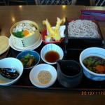 松茸せいろ御飯と桜島どりのつけ汁そば善(税込1258円)