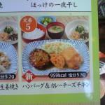 日替ランチ(定番5) ハンバーグ&カレーチーズチキン 959kcal [夢庵]