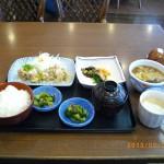夢庵ランチ定番4_鶏竜田おろしポン酢&豚生姜焼き+小そば