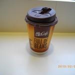 朝のコーヒーをマックで!