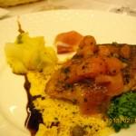 築地市場からの鮮魚のムニエル(真鯛)生ハムとトマト入りバターソース 1500円[ルヴェソンヴェール南大沢]