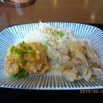 夢庵ランチ定番4_鶏竜田おろしポン酢&豚生姜焼き898kcal