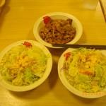 松屋のサラダと牛皿でダイエット