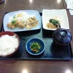 夢庵 日替ランチ 定番4 鶏竜田おろしポン酢&豚生姜焼き