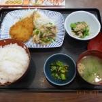 定番1_あじフライ&生姜焼き(¥628税込)日替わり定番ランチ
