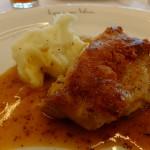 【ランチ】若鶏もも肉のコンフィ 黒胡椒と粒マスタード風味のソース [ル ヴェ ソン ヴェール 南大沢]