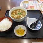 夢庵カレーうどん単品+ランチご飯セット?あれお味噌汁ないや・・・・けどおっけー!
