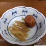 生姜の味噌漬け de 生ビールをグビグビ[アキバの丸五]