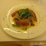 「鴨の燻製と??キャベツのパスタ」 ← オリーブオイル系のおまかせパスタ