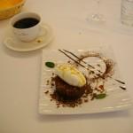ルヴェソンヴェール南大沢「コーヒー風味のチョコレートとキャラメルのガトー 牛乳のシャーベット」_1